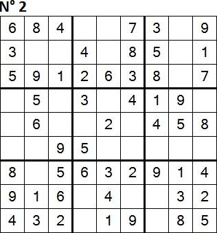 Sudoku facili 9x9 enigmando for Sudoku facile da stampare